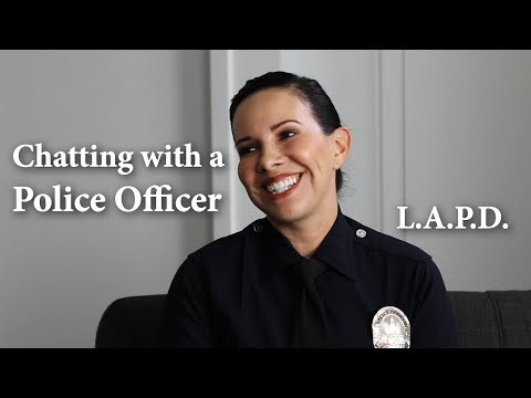 Chatting With A Police Officer