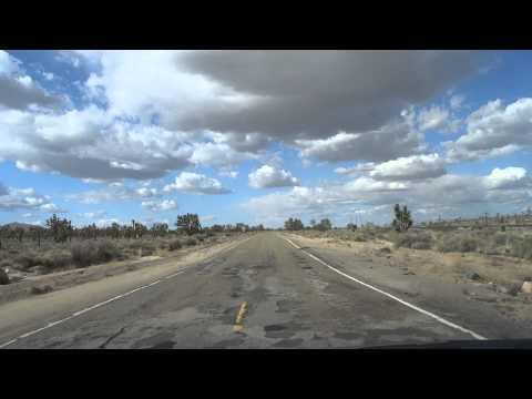 Driving thru Mojave desert - Kelso Cima road