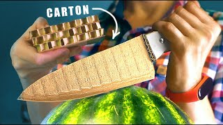 HOW TO MAKE A SHARP KNIFE FROM CARTON BOARD