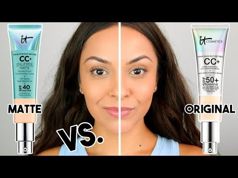 IT COSMETICS CC CREAM MATTE VS. ORIGINAL CC CREAM | Which Ones Better??? - TrinaDuhra