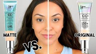IT COSMETICS CC CREAM MATTE VS. ORIGINAL CC CREAM | Which ones better??? - TrinaDuhra