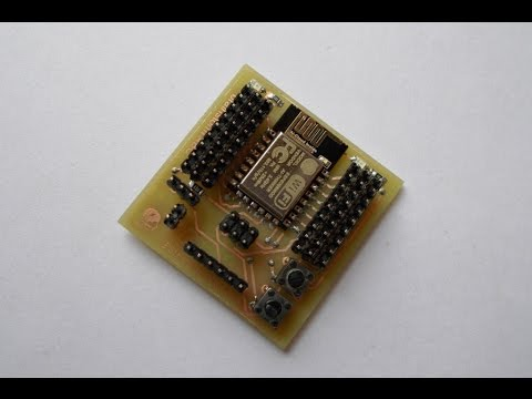 Part 1 :  Making of ESP-12E IO Board and AT command test