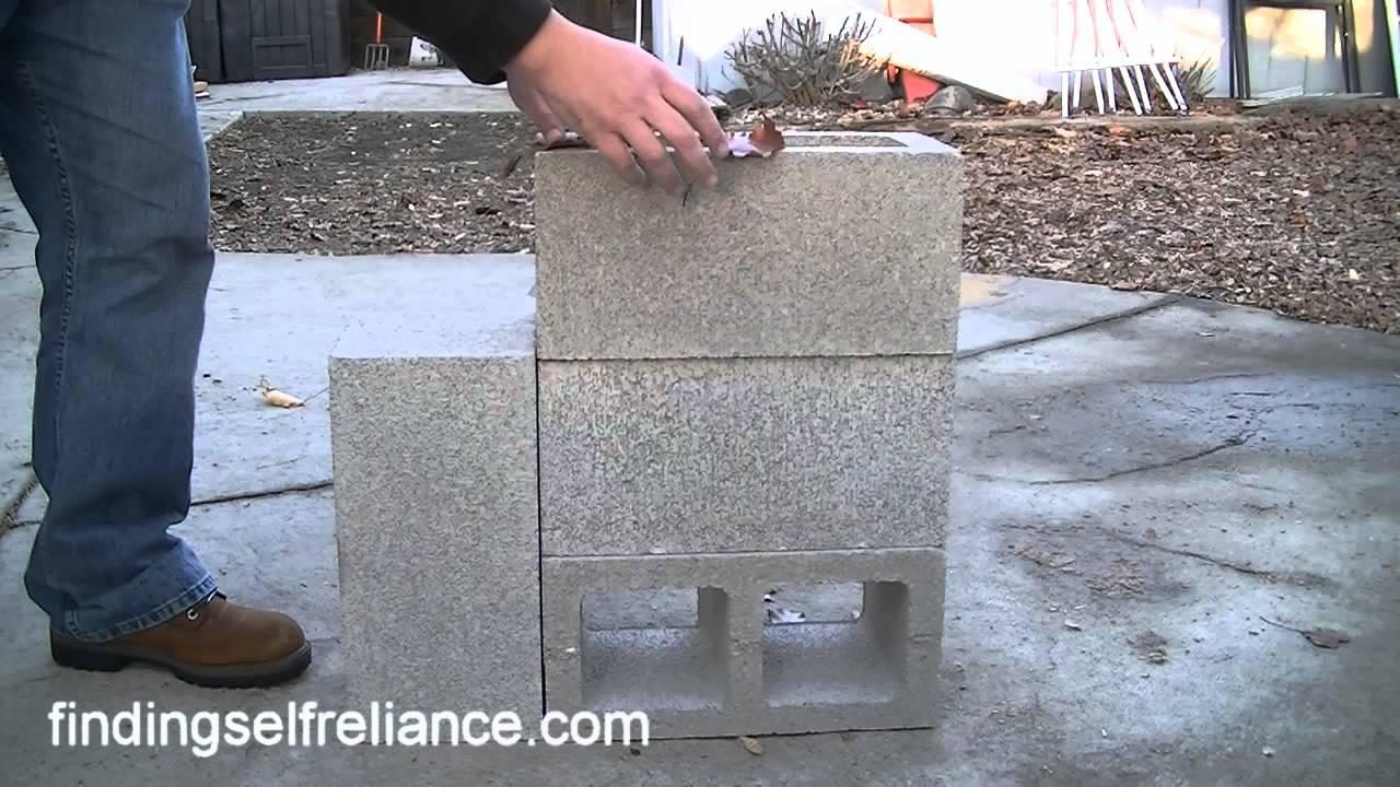 Diy rocket stove simple homemade rocket stove youtube for Homemade rocket stove plans