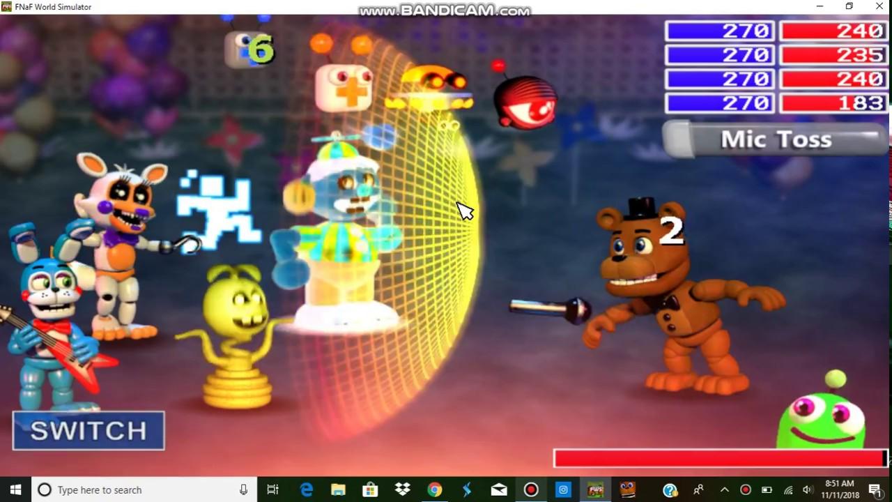 Fnaf world Simulator: Freddy Boss fight