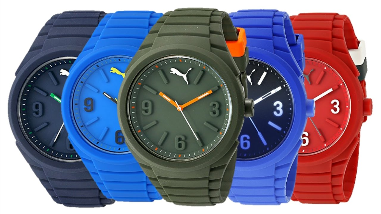 ed79dca03d6 PUMA Unisex Gummy Pop Color Collection Watches - YouTube
