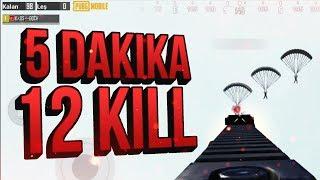 5 DAKİKA DA 12 KILL !   Pubg Mobile Conqueror Gameplay - Sanhok Bootcamp