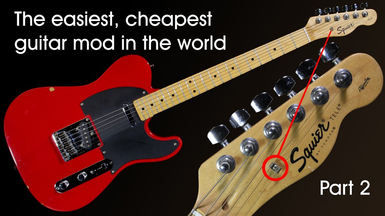 The easiest, cheapest guitar mod in the world (part 2) - YouTube