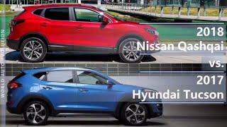 2018 Nissan Qashqai vs 2017 Hyundai Tucson (technical comparison)