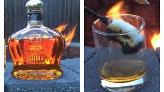 Backyard Fire Shenanigans and Crown Royal Limited Edition Flaming Marshmallow Serve