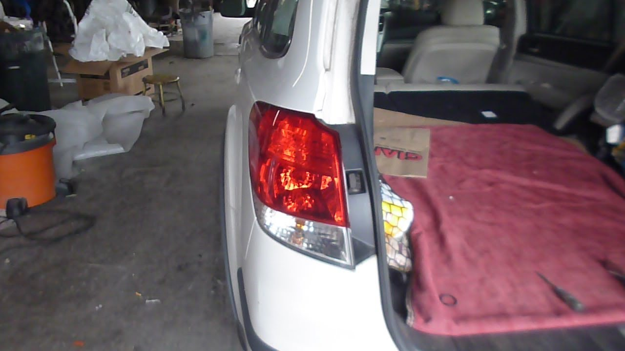 subaru outback tail lamp removal and light replacement
