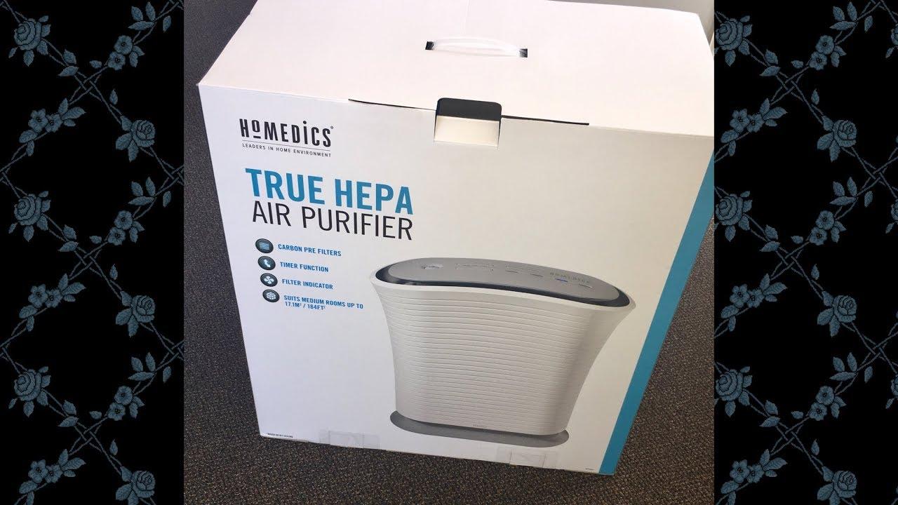 Review- Homedics HEPA Air Purifier - YouTube