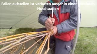 Fischfalle bauen  survival Kurse