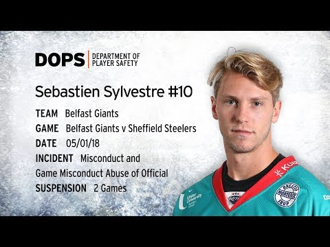 Elite League Department of Player Safety - Sebastien Sylvestre