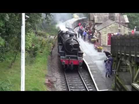 Keighley and Worth Valley Railway - LMS 5MT 45305 at Haworth Station