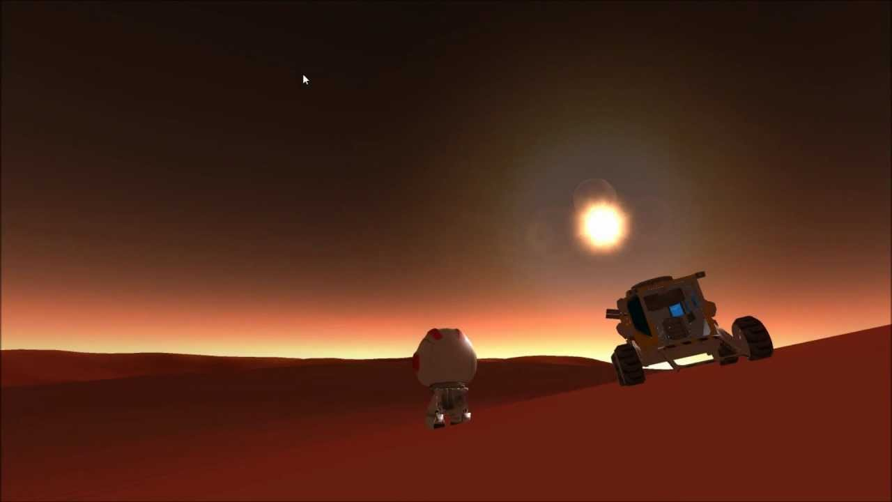 KSP first exploration of Duna, & a Kerbol eclipse by Ike