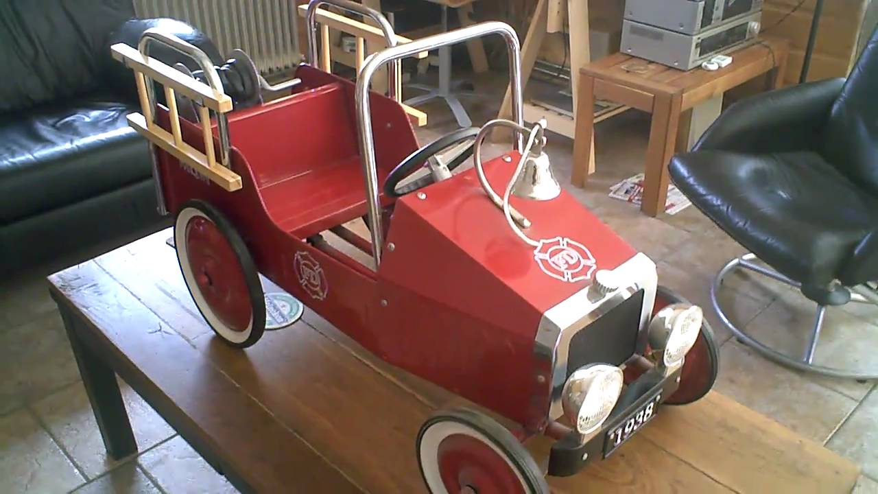Fire Truck Pedal Car: FD Fire Truck Kids Pedal Car Made By MarQuant