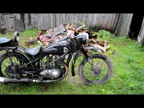 Иж 49 совсем устал.  motorcycle russian