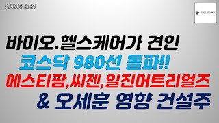 [2021.04.08] 제약바이오. 헬스케어 코스닥 1…