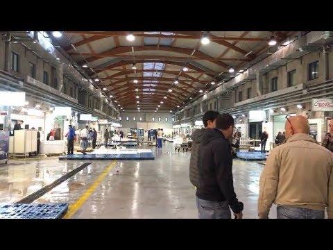 Giancarlo Cancelleri e Luigi Di Maio (M5S) - Mercato ittico di Catania - 7/10/2017