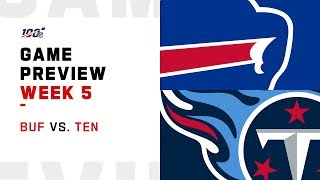 Buffalo Bills vs. Tennessee Titans Week 5 NFL Game Preview