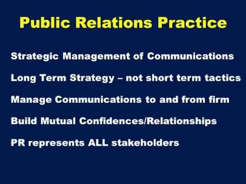 Advanced Public Relations ch1