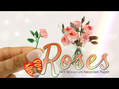 DIY - How to Make:  Recycled Paper Roses for Valentines Day