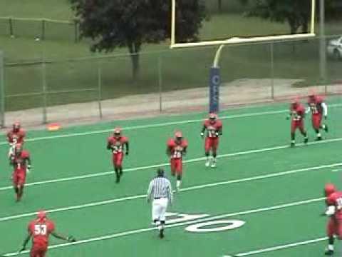 92 yd Kickoff Return by Rodney Lloyd (WR/DB Fenger Academy High School)