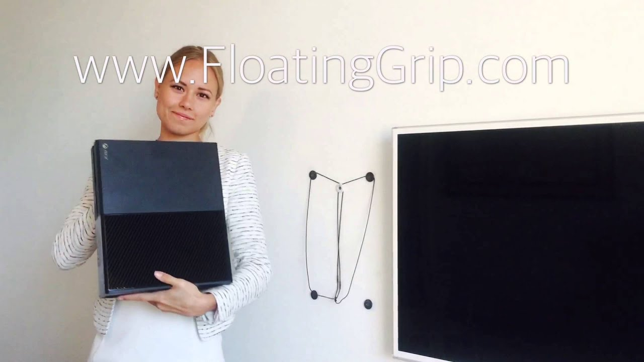 how to mount your xbox one nicely on the wall with the wall grip by floating grip youtube. Black Bedroom Furniture Sets. Home Design Ideas