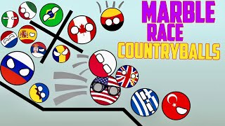 AMAZING COUNTRYBALLS MARBLE RACE CAN POLAND INTO SPACE? | BET ON YOUR COUNTRY TOURNAMENT 2017 2018