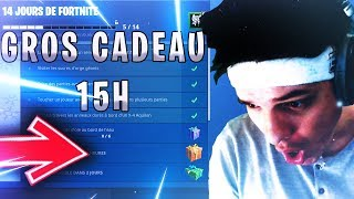🔴JOYEUX NOEL ALL WORLD - CADEAU A 15H ON FORTNITE I CODE CREATEUR: leg3ndz I 2100 WINS