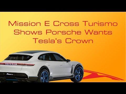Mission E Cross Turismo Shows Porsche Wants Tesla's Crown