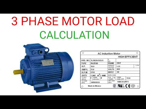 3 PHASE MOTOR LOAD CALCULATION