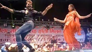 Full Video - खेसारी और सपना के एक साथ स्टेज शो - Khesari Lal Sapna Chaudhri Aankopur Stage Show 2018