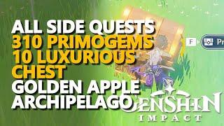 All Golden Apple Archipelago Luxurious Chests \u0026 Primogems Genshin Impact Quests \u0026 Secrets \u0026 Puzzles