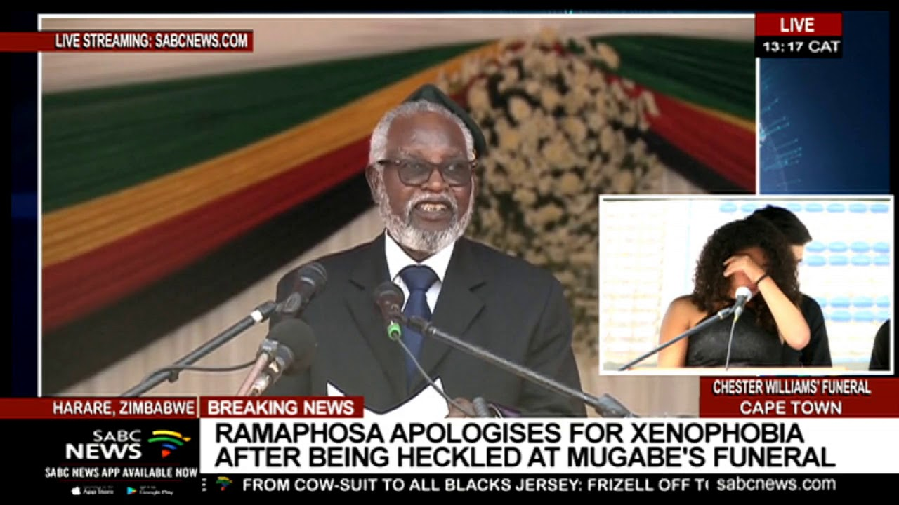 Namibia's Sam Nujoma pays tribute to Mugabe