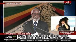 Namibia's Sam Nujoma pays tribute to Mugabe