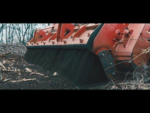 SUPERSOIL Seppi M - лісова фреза, мульчер - ротоватор. Подрібнення пнів і дерев до 50 см діаметрм.