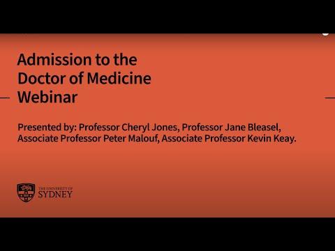 Admission To The Doctor Of Medicine: Webinar