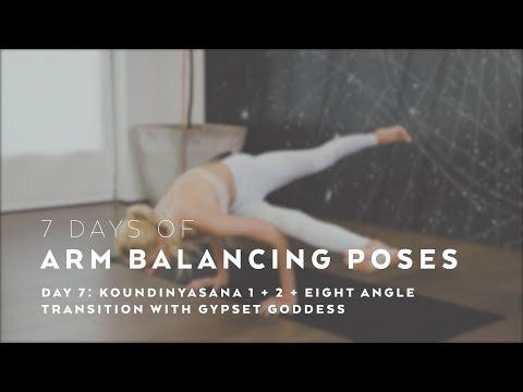 How-To: Koundinyasana I + II + Eight Angle - 7 Days of Arm Balancing Poses with Gypset Goddess