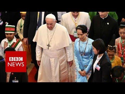 Pope's Myanmar speech avoids reference to Rohingya – BBC News