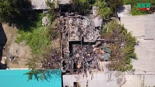 Последствия пожара на улице Полевая
