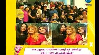 تعليق ميار الببلاوي علي صورة بوسي شلبي علي الانستجرام بمناسبة عيد الميلاد مع الكثير من الفنانين