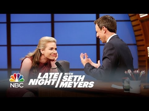 Piper Perabo and Seth's Interesting First Meeting  Late Night with Seth Meyers