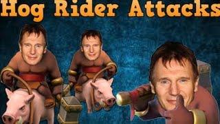 "Clash of Clans   Hog Rider MADNESS   ""BACON RAIDS"""