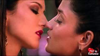 Lesbian kiss (Sunny Leone & Sandhya Mridul)