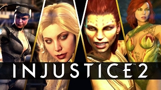 INJUSTICE 2 All Character Heroes All INTROS & SUPER MOVES + Injustice 2 Movie Story Trailer