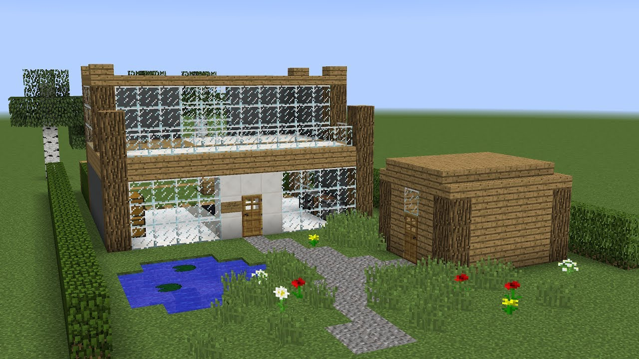 Minecraft how to build a land house youtube for Homes to build on acreage