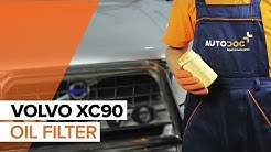 How to replace Engine Oil and Oil filter on VOLVO XC90 1 TUTORIAL | AUTODOC