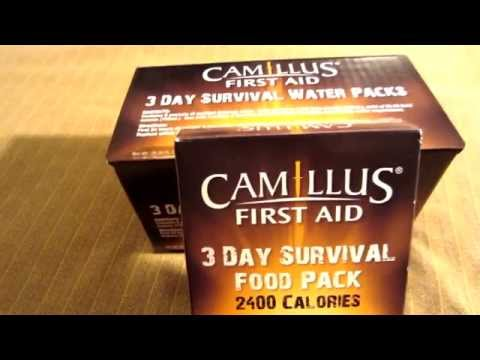 Camillus: 3 Day Survival Food & Water Packs