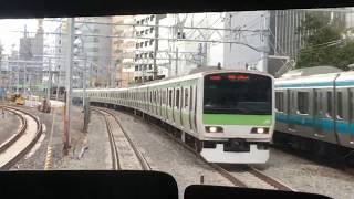 JR山手線 田町~品川 前面展望 JR Yamanote Line Tamachi Station to Shinagawa Station (2018.12)